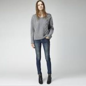Rag & Bone Cara Cable Knit Sweater Size